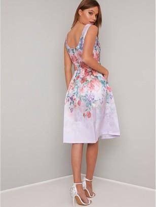 Chi Chi London Alodie Dress - Lilac