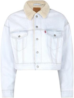 Levi's Light Blue Cropped Denim Jacket
