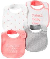 Carter's Baby Girl 4-pk. Print & Embroidered Bibs