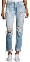 True Religion Cameron Distressed Boyfriend Jeans, Indigo