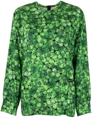 Dolce & Gabbana Clover Print Blouse