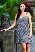 Batik dress, 'Lovely Gardenias'