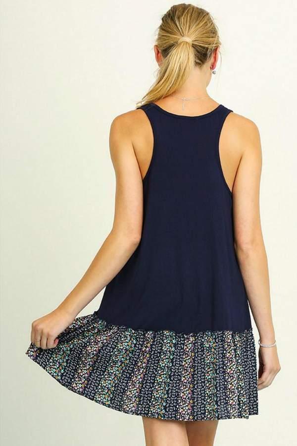 Umgee USA Sleeveless Print Dress