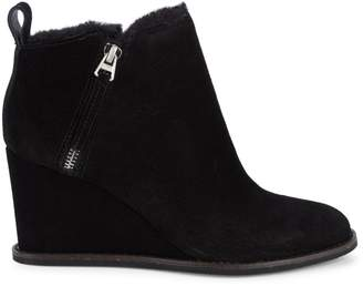 Dolce Vita Gili Faux Fur Lined Suede Wedge Booties