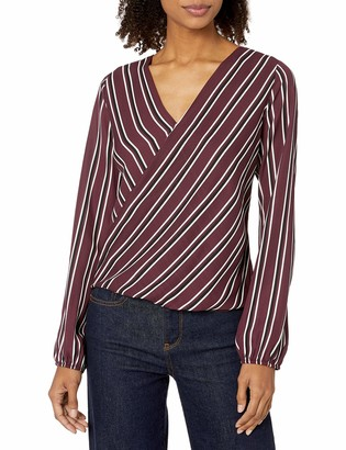 Amy Byer A. Byer Juniors Wrap Front Top