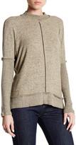 Bobeau Seamed Front Snit Mock Turtleneck Sweater
