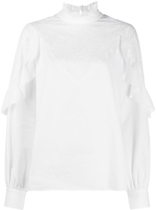 See by Chloe Victorian Lace-Insert Blouse