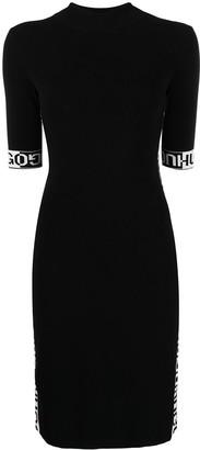 HUGO BOSS Logo-Tape Short-Sleeve Dress