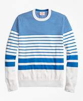 Brooks Brothers Nautical-Stripe Cotton Crewneck Sweater