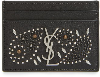 Saint Laurent Studded Leather Card Case
