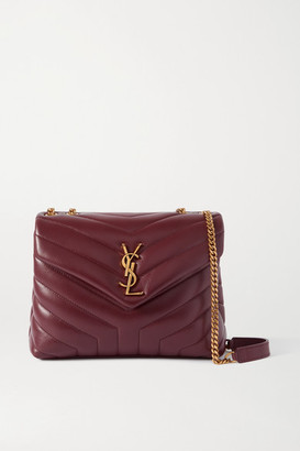 Saint Laurent Loulou Small Quilted Leather Shoulder Bag - Burgundy