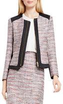 Vince Camuto Petite Long Sleeve Tweed Jacket