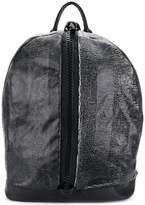 Giorgio Brato front zipped distressed backpack