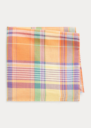 Ralph Lauren Cotton Madras Pocket Square