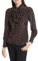 Tracy Reese Women's Bow Neck Silk Blouse