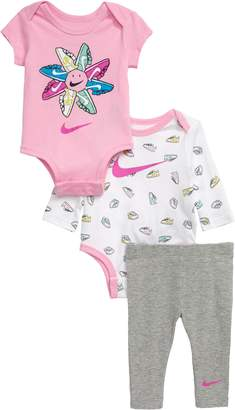 Nike Short Sleeve Bodysuit, Long Sleeve Bodysuit & Leggings Set