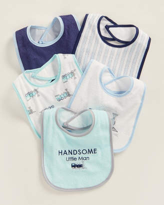 Luvable Friends Newborn Boys) 5-Pack Drooler Bibs