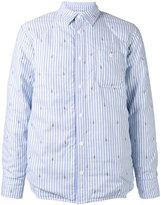 MAISON KITSUNÉ padded shirt jacket - men - Cotton - S