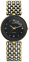 Rado Women's Flourence 35mm Gold Plated Bracelet Ceramic Case Quartz Dial Analog Watch R48793154