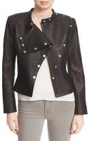 Diane von Furstenberg Warrior Pebbled Leather Jacket