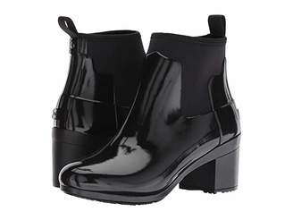 Hunter Refined Mid Heel Gloss Rain Boots