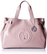 Armani Jeans Eco Patent East West Tote, Pink