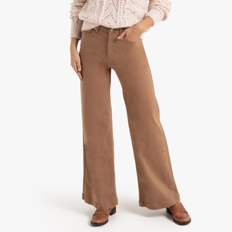 """La Redoute Collections High-Waist Wide-Leg Jeans, Length 31.5"""""""