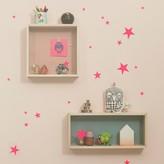 ferm LIVING Group of stars sticker - fluorescent pink