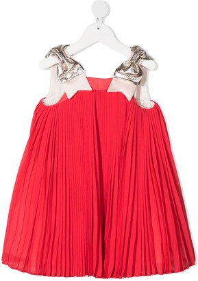 Hucklebones London Trapeze pleated party dress