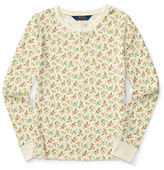 Ralph Lauren Girls 2-6x Long Sleeve Cotton Top