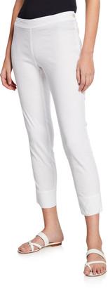 120% Lino Linen Cotton Side-Zip Capri Pants