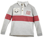 Angel & Rocket Boys' Striped Rugby Shirt, Grey