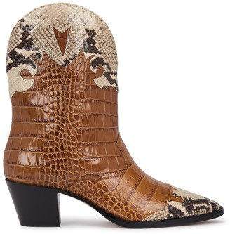 Paris Texas 65 crocodile-effect leather Western boots