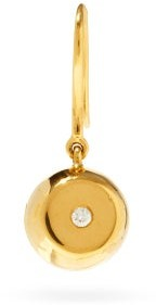 Aurelie Bidermann Fine Jewellery Fine Jewellery - 18kt Gold & Diamond Drop Single Earring - Womens - Gold