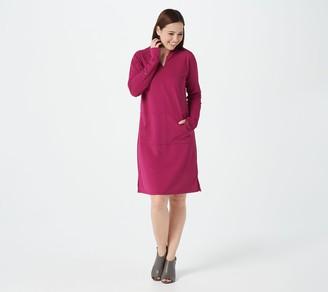 AmberNoon II by Dr. Erum Ilyas Petite SunSnug UPF 50 Hooded Knit Dress