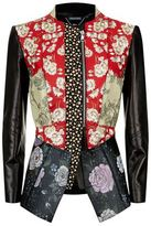 Alexander McQueen Floral Patchwork Leather Jacket