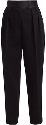 Alexander Wang High-Waisted Pleated Tuxedo Trousers