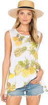 Chaser Pineapples Flounce Tank