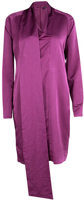 Boss By Hugo Boss Purple Long Sleeve Danami Dress S
