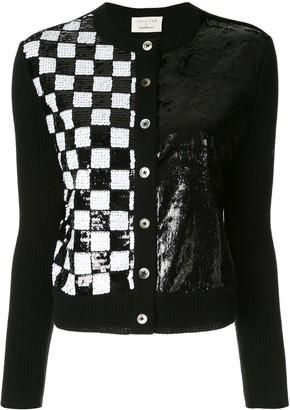 Onefifteen Sequin Checked Cardigan