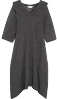 Comme des Garcons Oversized Wool-blend Midi Dress - Gray