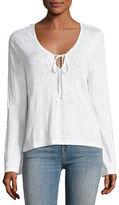 J Brand Constance Long-Sleeve Cotton Top