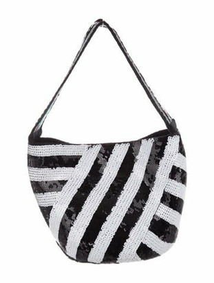 Silvia Tcherassi Mochila Embellished Bucket Bag w/ Tags Black