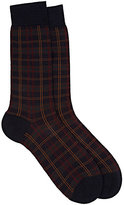 Barneys New York Men's Greenwich Checked Mid-Calf Socks