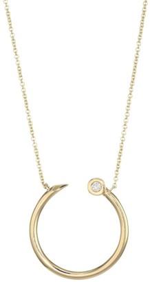 Sydney Evan 14K Yellow Gold & Diamond Nail Head Necklace