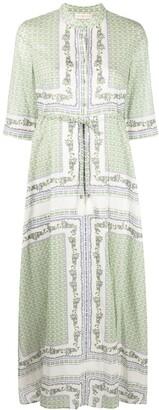 Tory Burch Garden Print Long Shirt Dress