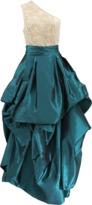 Naeem Khan One Shoulder Crystal Deco Beaded Tafetta Ball Gown