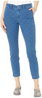 NYDJ Ami Skinny Ankle Jeans with Side Seam Welt Pockets in Beachside Polka Dot (Beachside Polka Dot) Women's Jeans