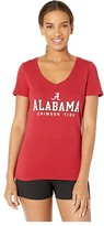 Champion College Alabama Crimson Tide University V-Neck Tee (Cardinal 2) Women's T Shirt