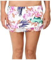 Tommy Bahama Orchid Canopy Skirted Hipster Bikini Bottom with Ruffle